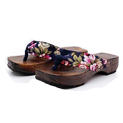 Oferta: 5.63€. Comprar Ofertas de Winwintom Mujeres Casual Verano Plataforma Zapatos Madera Mujeres Flor Sandalias Zueco Deslizadores De Madera Flip Flops (40, barato. ¡Mira las ofertas!