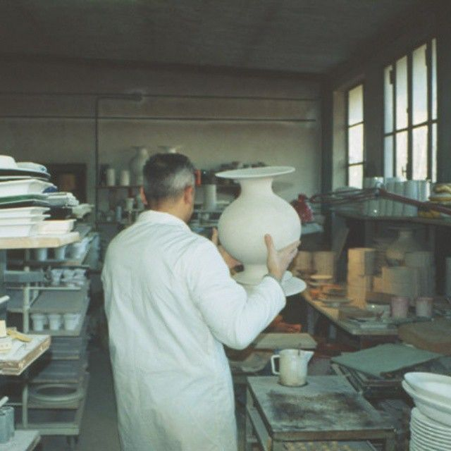 #EncouragingCraftsmanship  Vaso Bianco, Vaso Nero  The clay is prepped for the first cooking in the furnace oven