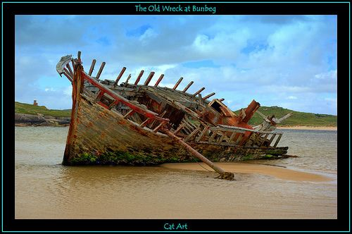 © Cat-Art.  The old wreck at Magherclogher beach, Bunbeg, Co.Donegal, Ireland.  Bunbeg or An Bun Beag (the latter is its official name and means The Small River Mouth) is a small townland in the parish of Gweedore, Co Donegal, Ireland. It is official YBC offers your company a free onsite consultation that will provide you with helpful decision-making information that our clients, including what  many Fortune 500 companies, already know.