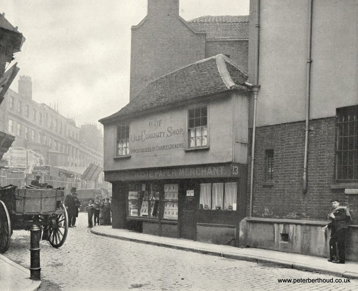 "The Old Curiosity Shop, Portsmouth Street (said to have been the original of Dickens's ""Old Curiosity Shop"")."