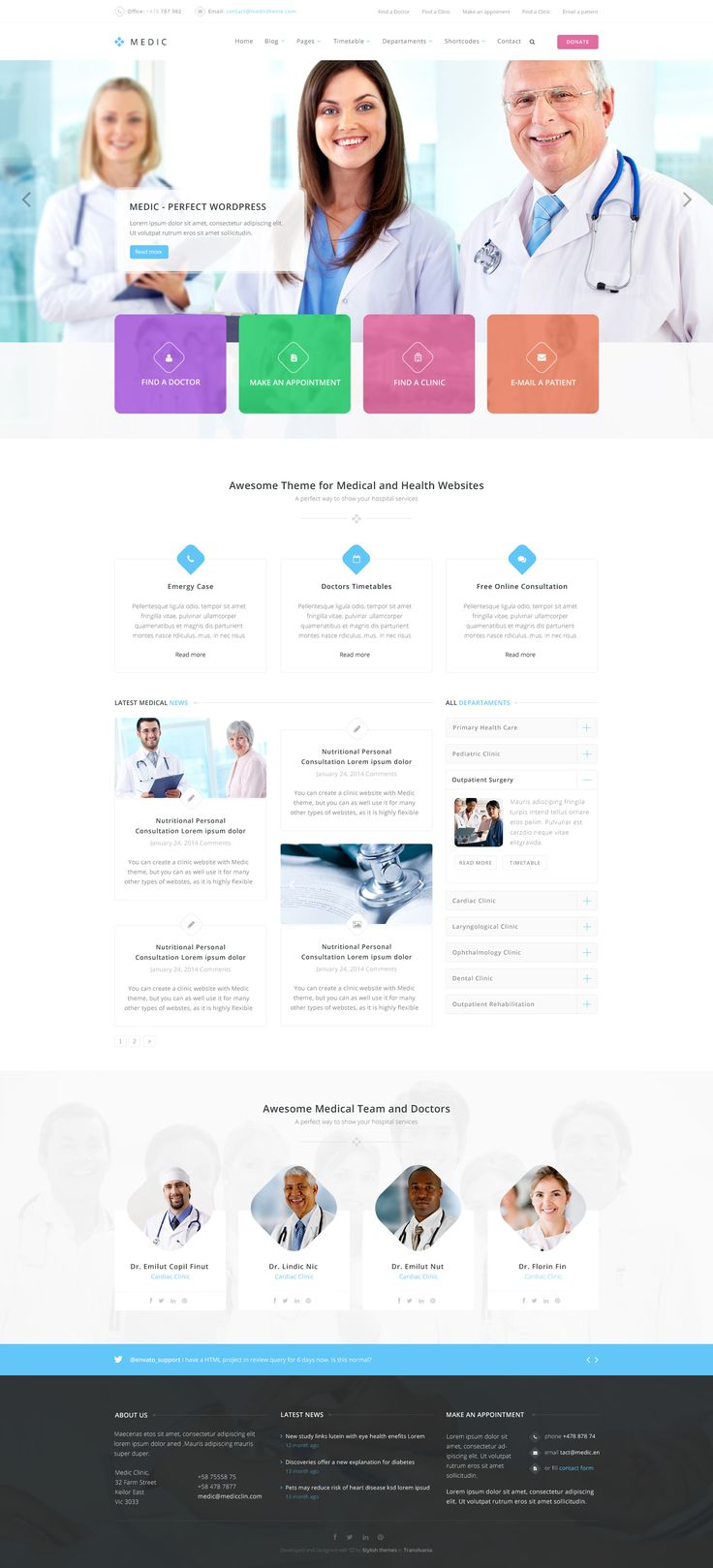 Say hello to Medic, the #PSD #template that will help you to make a hall…
