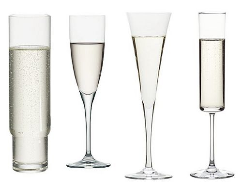 Modern Champagne Glasses-Crate and Barrel for this fluted variety