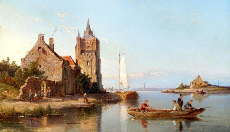 Aida on the island Tholen! In Zealand - Peter Cornelis Dommersen (1834-1918) - Dutch painter.