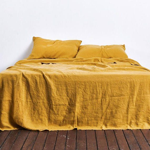 Linen Duvet Cover Linen Pillowcases 3 Piece Washed Linen