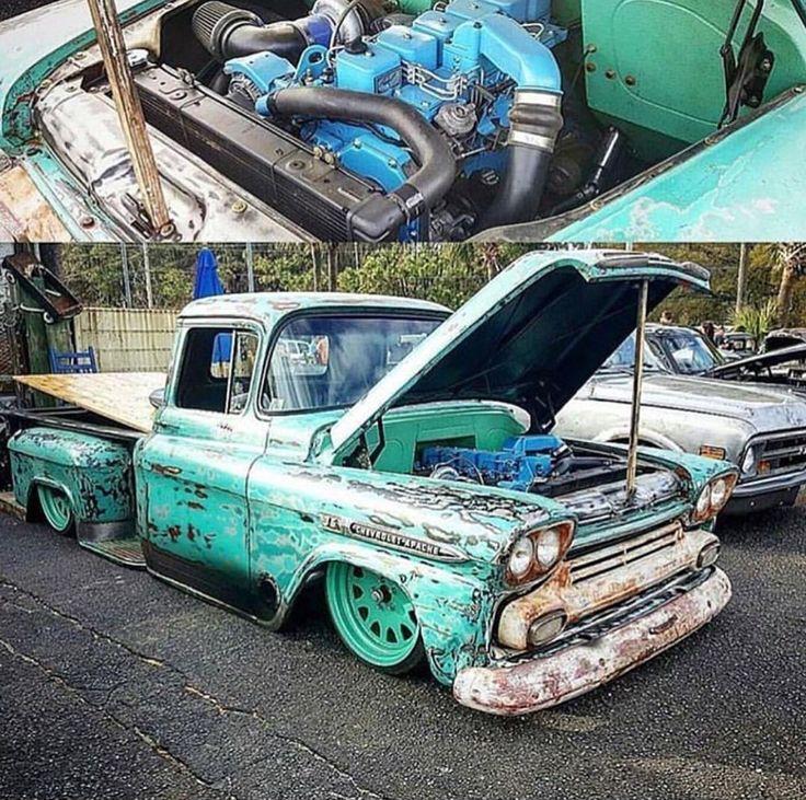 Chevy Apache, diesel power!