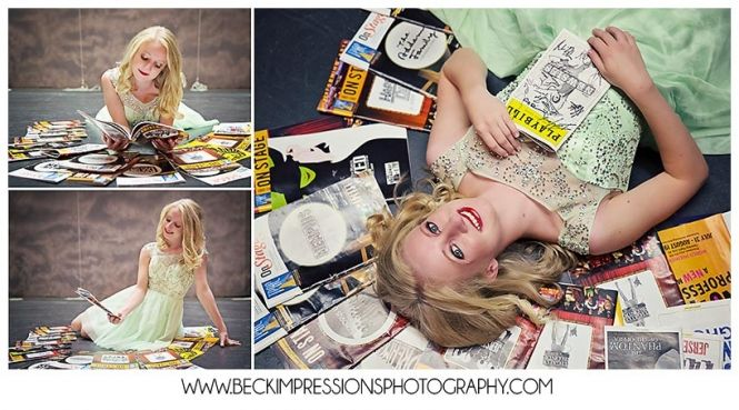 Middle Tennessee Senior Pictures, Musical Theater Broadway Playbills  | www.BeckImpressionsPhotography.com