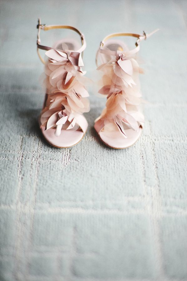 Floral heels for a cute wedding.