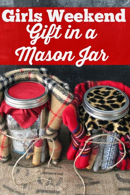 holiday survival kit in a mason jar girls weekend gifts. Black Bedroom Furniture Sets. Home Design Ideas