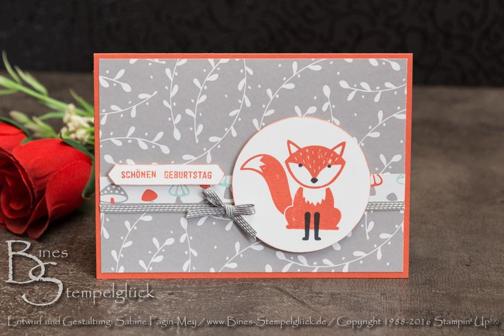"""Stempelset """"Foxy Friends"""", Stampin' Up!"""