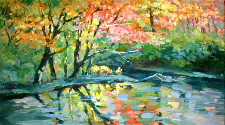 acrilic on canvas:  Pond 30x50