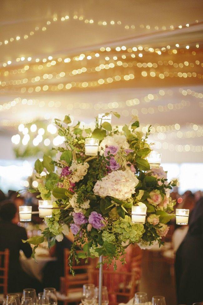 Candelabros altos con velas, geniales para bodas
