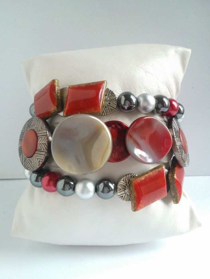 Nouveauté femme bracelet 3 rangs unique et fait main : Bracelet par les-creations-uniques-de-michel-nala
