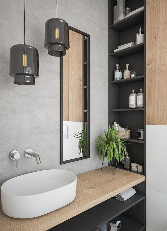 Merveilleux 50+ Cozy Modern Warm Bathroom Interior Design Ideas