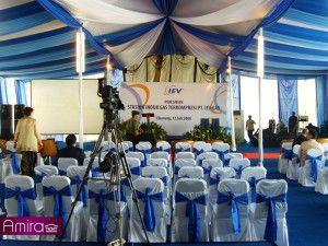 Sewa Tenda Dekorasi VIP ( Konfensional ) Event Peresmian Pabrik PT.IEV GAS Cikarang,Jawa Barat, ( Bpk. Wakil Presiden RI, H.Yusuf Kalla ) | Amira Tent