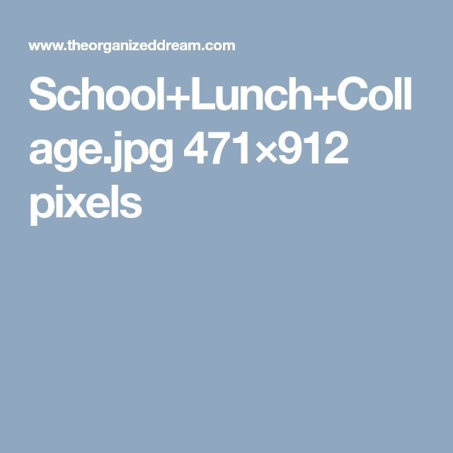 School+Lunch+Collage.jpg 471×912 pixels