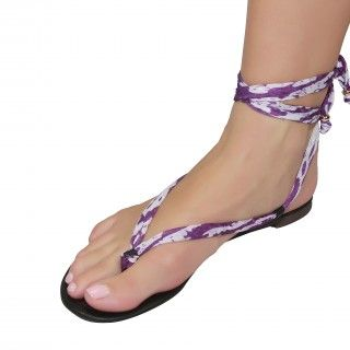 Shutini's Festival Strap features a short, patterned, violet strap whcih combines a mixture of high quality lycra and cotton.  On #sale for $6.95. #shoes