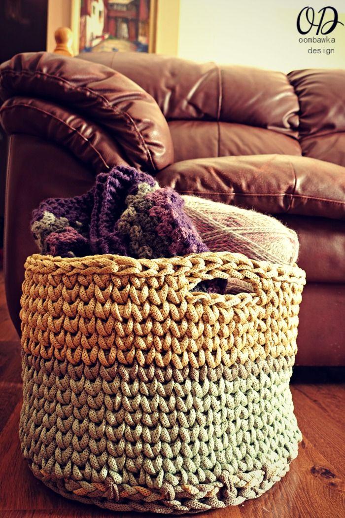 Your GIANT Yarn Basket - free pattern, using Macrame Cord