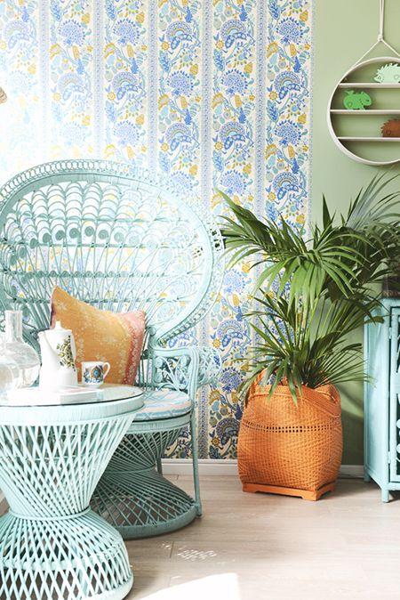 Preciously Me blog : DIY Painted Peacock Chair
