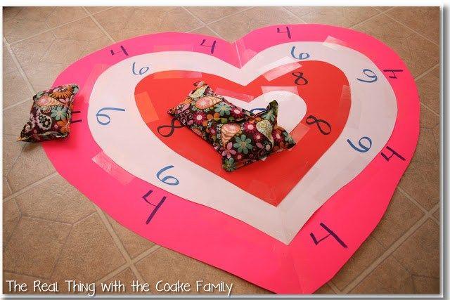 c5abda39da07761c90236a8088f83430 kids valentines valentine party - Valentine Bean Bag Toss