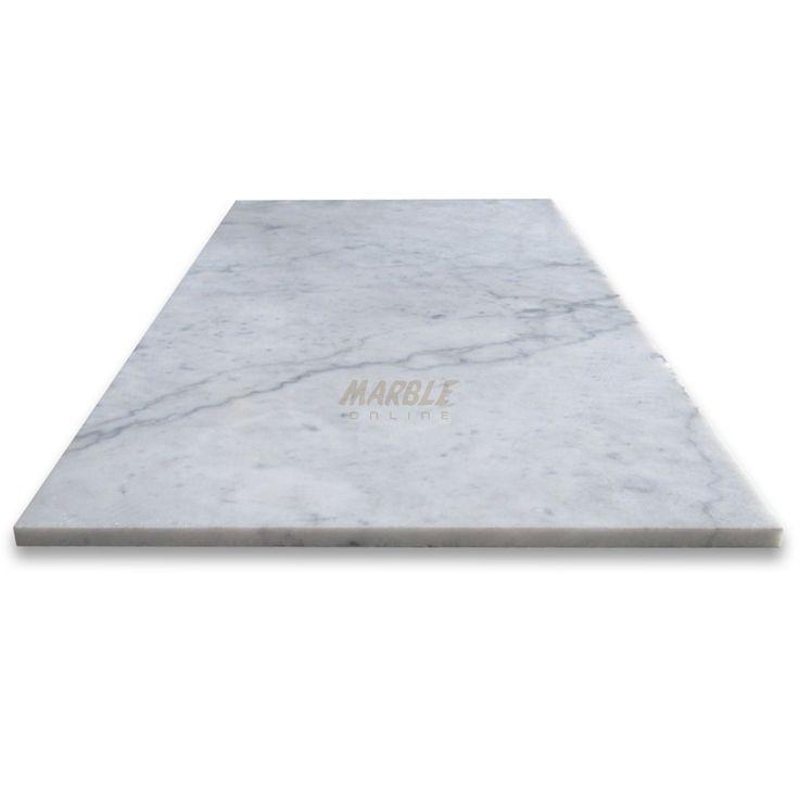 Carrara White 12x24 Tile Honed