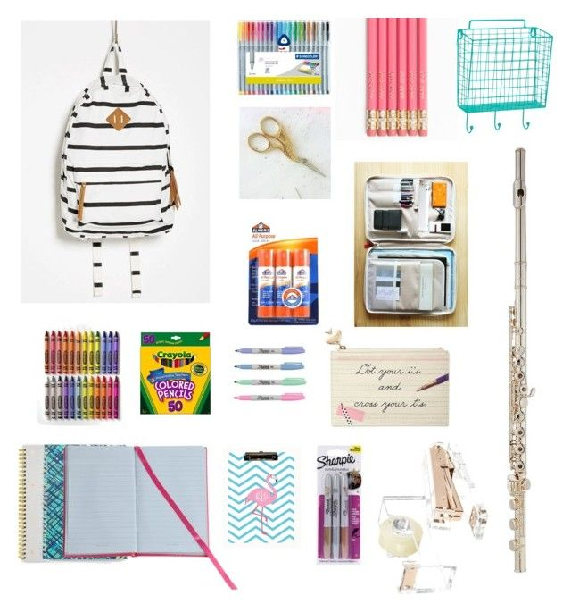 """School Supplies 2016"" by coolsarahs on Polyvore featuring art"
