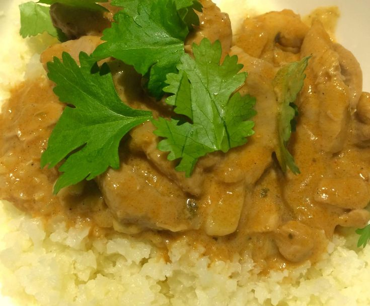 Recipe Butter Chicken with Cauliflower Rice-Pete Evans converted recipe by Fruit and Glee - Recipe of category Main dishes - meat