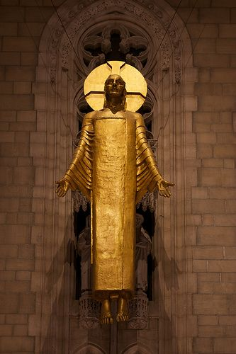 Christ in Majesty by Jacob Epstein. Riverside Church, Morningside Heights, NYC. Zippertravel.com Digital Edition
