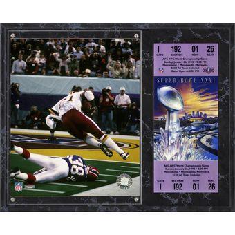 "Washington Redskins Art Monk Fanatics Authentic 12"" x 15"" Super Bowl XXVI Sublimated Plaque with Replica Ticket"