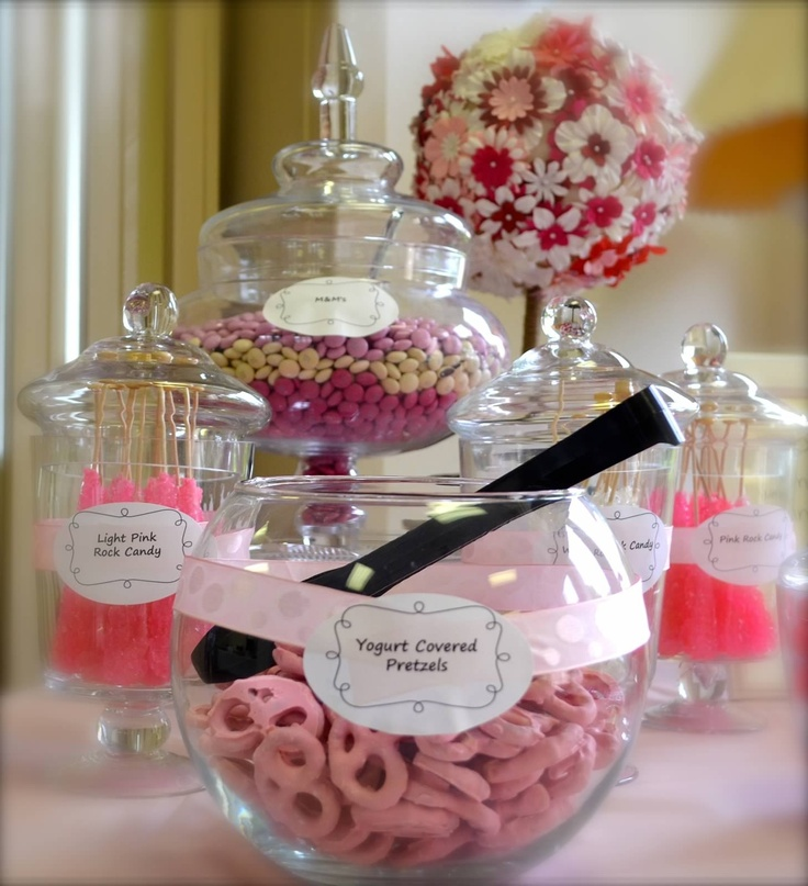 Candy bar ideas for baby girl shower
