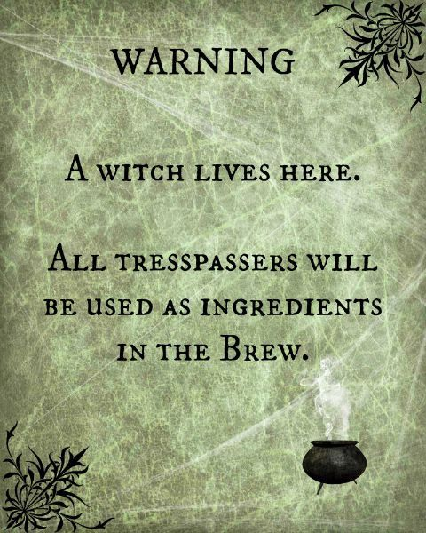 A Witch Lives Here - free printable