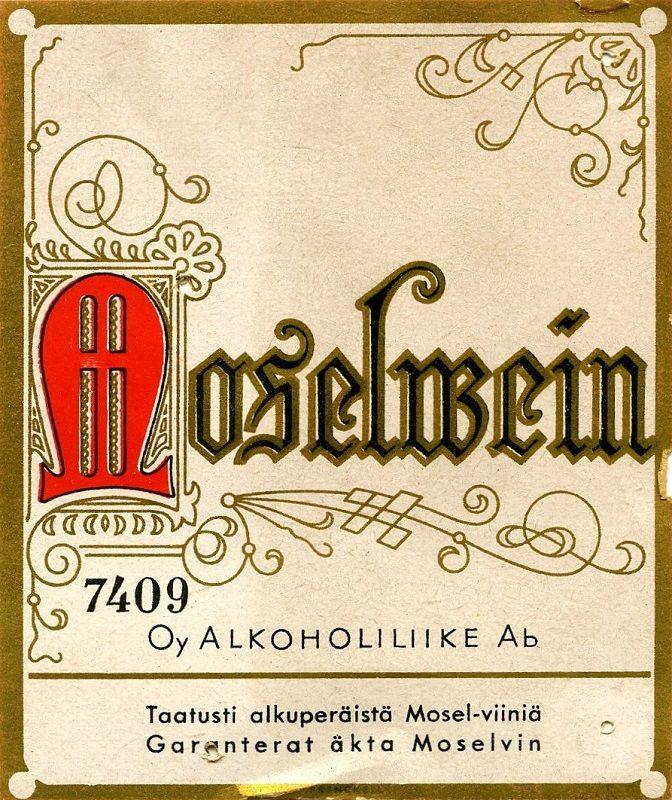 Oy Alkoholiliike Ab #labels #etiketit #viinit #Alko #Moselwein