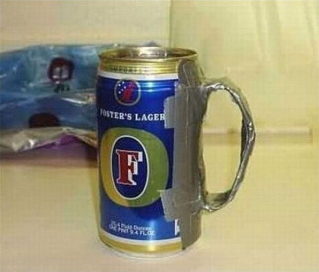 If you have duct tape, you too can drink like a king!