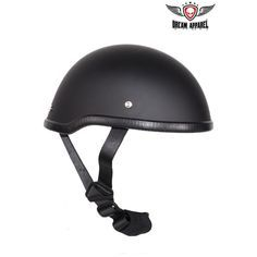 From a selection of novelty motorcycle helmets, we bring out the low profile monster you see today. The flat black skull cap is made from a fiberglass shell. A smooth, slick black finish to give it th