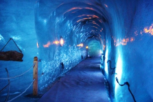 Chamonix Mer de Glace Ice Cave Tunnel, France