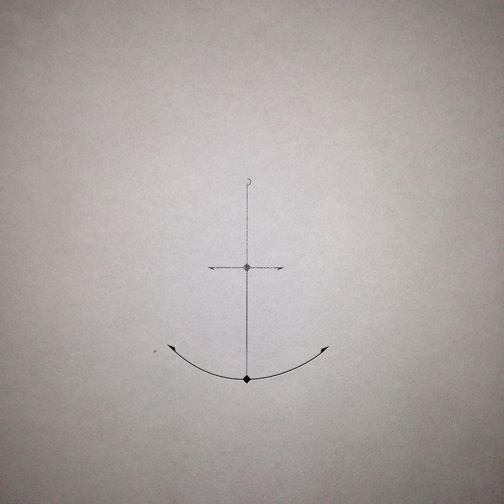 Minimal anchor tattoo