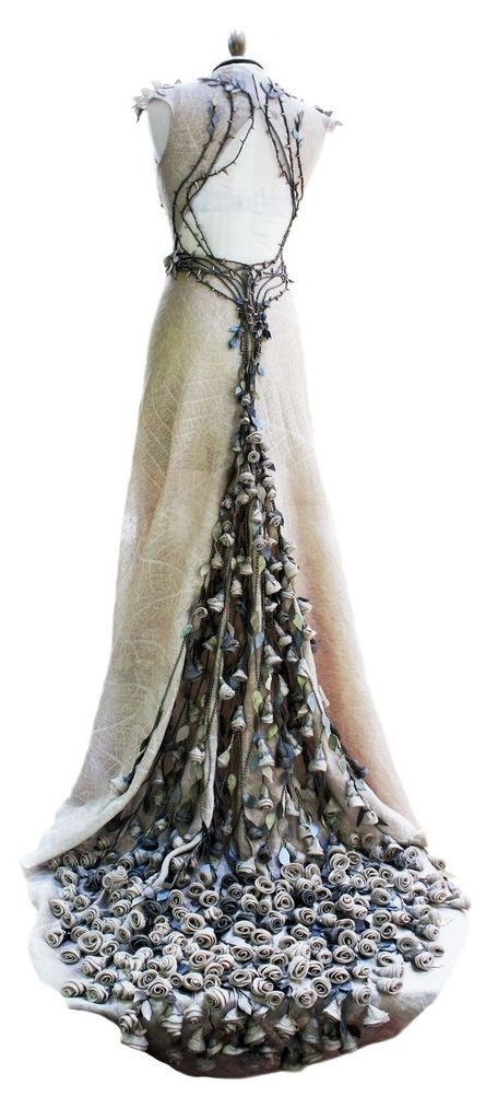 Elvish gown. I really like the branch work and the leaf print on the main material.