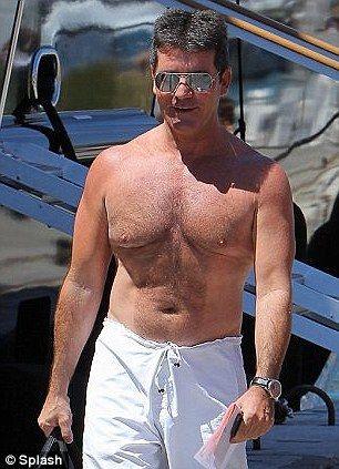 Male celebrity beer belly