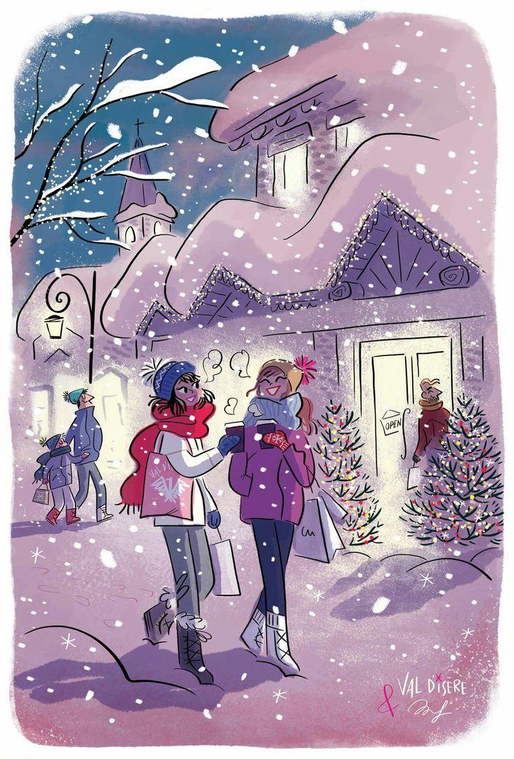 Snow and Friendship / Neve e Amicizia - Art by Magalie Foutrier