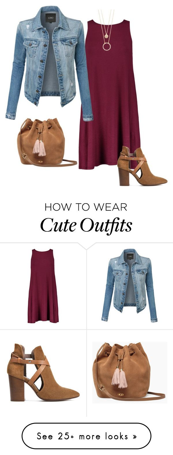 """Cute Casual Outfit"" by amyp2323 on Polyvore featuring LE3NO, H London, Kate Spade and UGG"