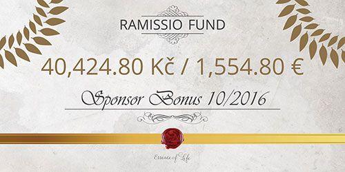 Měsíční bonus za říjen tentokrát získalo neuvěřitelných 15 členů Ramissio, kterým se podařilo přivést do spolupráce alespoň 3 nové členy startovacími balíčky Standard nebo Profi.