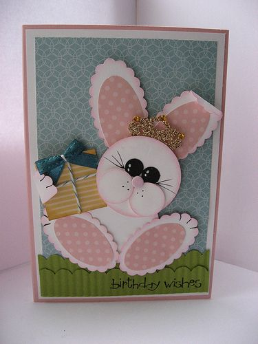 Princess Bunny Punch Art Card by Boobalay1983 - Cards and Paper Crafts at Splitcoaststampers
