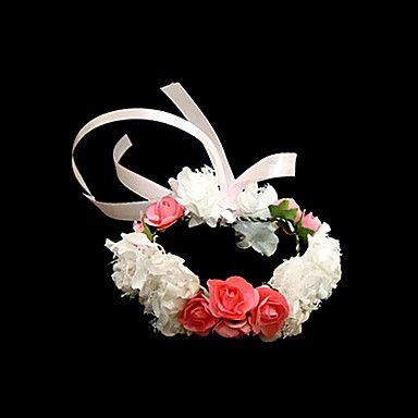 Lovely White With Red Satin/ Paper Flower Wedding Flower Girl/Bridal Wrist Flower – USD $ 4.99