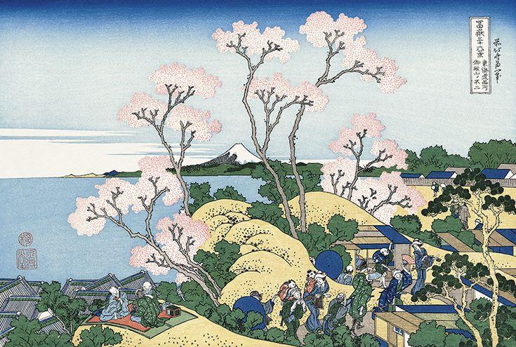 Hokusai/ Fuji from Goten-yama, at Shinagawa on the Tokaido Road (Tokaido Shinagawa Goten-yama no Fuji), from the series Thirty-six Views of Mount Fuji (Fugaku Sanjurokkei)