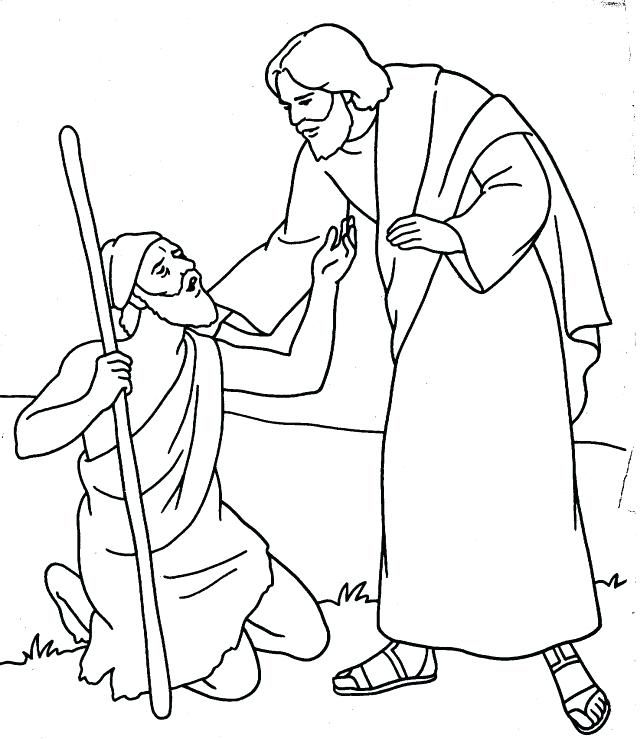Jesus Heals A Blind Man Coloring Page Coloring Sheets Coloring