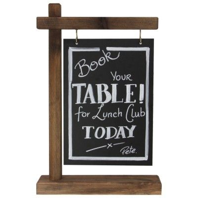 Gantry Table Top Chalkboard