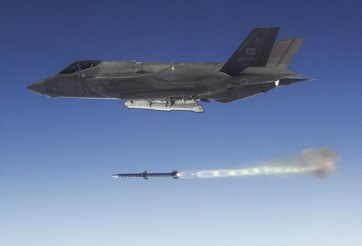 F-35A launching AIM-120 AMRAAM between tests done at Point Mugu