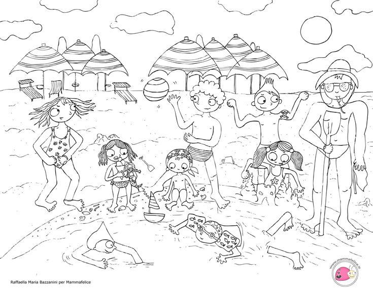 disegno per bambini da colorare gratis bambini vacanza