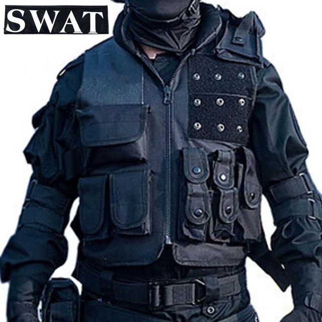 Airsoft chaleco táctico Swat militar Paintball Tactical Combat caza chaleco de entrenamiento equipo de protección