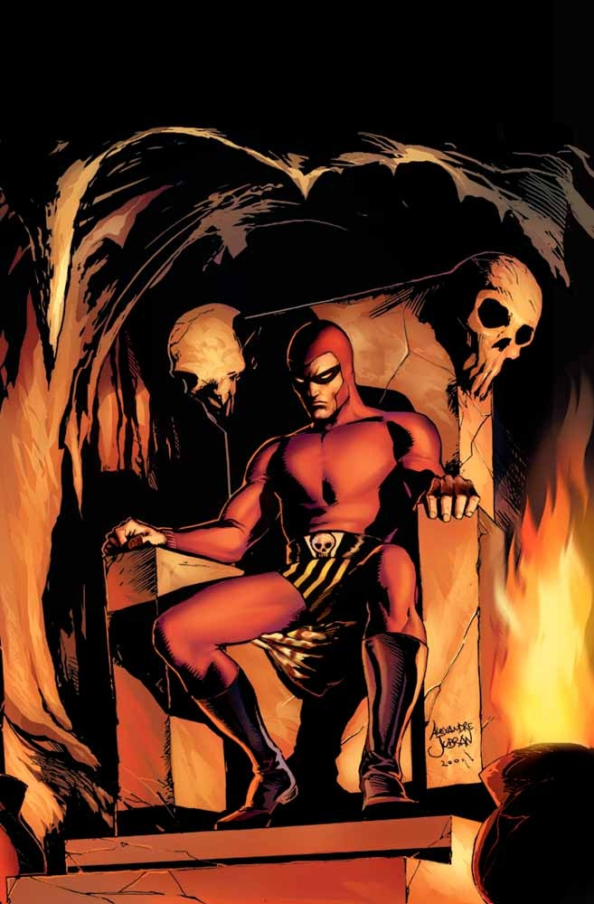 Fantasma  Lee Falk faria o fantasma em 1936 e seria o primeiro herói fantasiado dos quadrinhos (o Batman e o Super Man só apareciam depois). Chamado também de 'espírito que anda' o cara andava pela floresta de Bengale junto com o seu lobo branco combatendo a pirataria e mercenários. Sem ter super poderes ( coisa que Lee Falk era contra) o fantasma resolvia tudo no sarrafo e deixava sempre a marca de seu anel da caveira nos queixos fraturados dos meliantes.