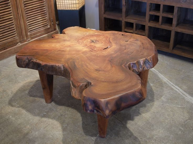 Iron wood coffee table